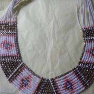 Indian bead multi strand necklace